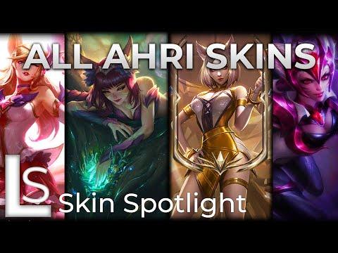 ALL AHRI SKINS - Skin Spotlight - League of Legends