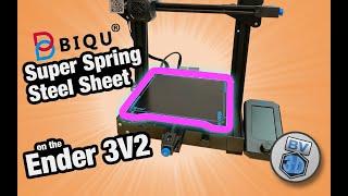 Biqu (BigTreeTech) Super Spring Steel - Install \u0026 Review on Ender 3V2