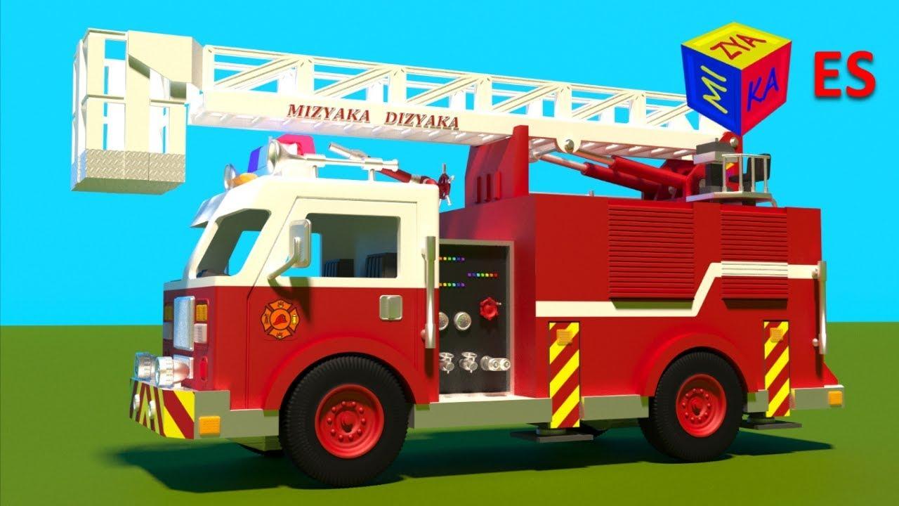 Worksheet. Juego de construccin un camin de bomberos Dibujos animados de
