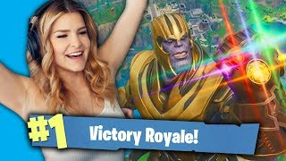 BUILDING A SKYBASE VS THANOS! (Fortnite Battle Royale Gameplay) | KittyPlays