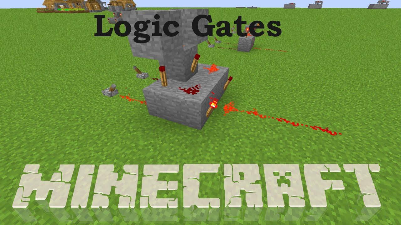 logic gates redstone basics minecraft tutorial youtube rh youtube com Redstone Repeater Recipe Redstone Diagram Screen