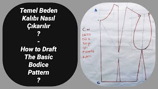 HOW TO  Draft the Basic Bodice Pattern? - Pattern Making