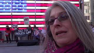 15 years today of Killing in Iraq 3:19:18 Times Square w Debra Sweet