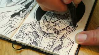 S01E31 Inktober Day 15 Mysterious, Pen, Art, Sketch, Drawing, Comic, Jake Parker, Ink, Sketchbook