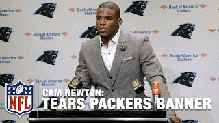 Cam Newton Confirms Tearing Down Packers Banner! | NFL