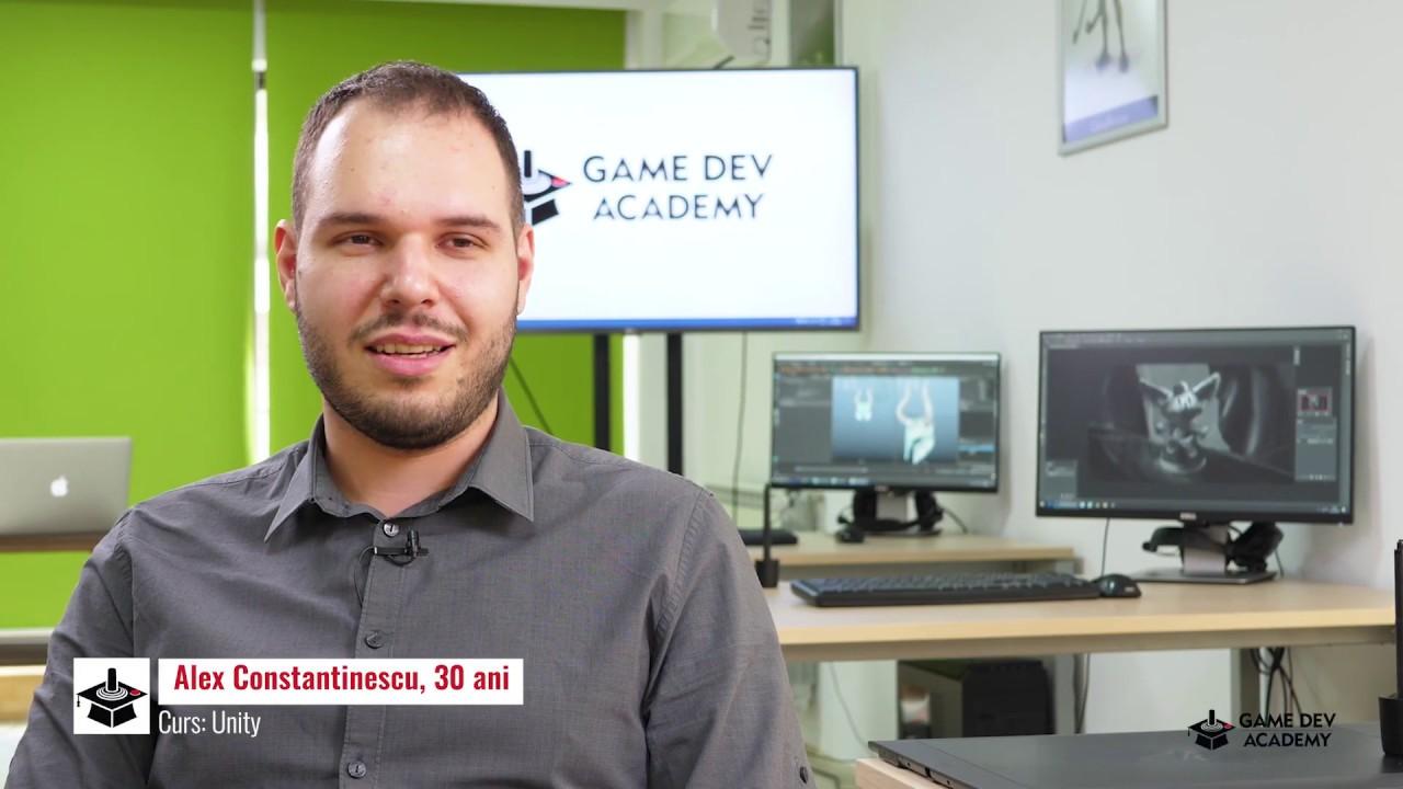 Alexandru Constantinescu povesteste despre experienta GameDev Academy!