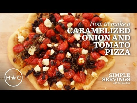 Caramelized Onion and Tomato Pizza_Simple Servings