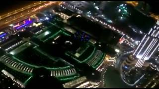 Dubai fountains burj khalifa top view