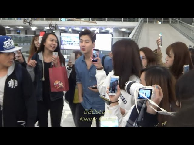 Super Junior-M (SJM) - Henry(??) ??? (???) Leave Hong Kong Airport 20160111