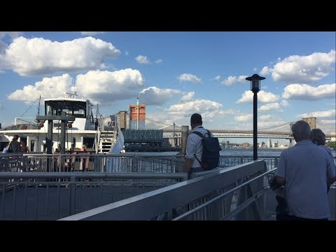 NYC Ferry Ride on the South Brooklyn Line from Wall St/Pier 11 Terminal to Bay Ridge Terminal