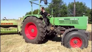 FENDT Farmer 105 S (60 PS) Ballen Pressen (Sound)!!!