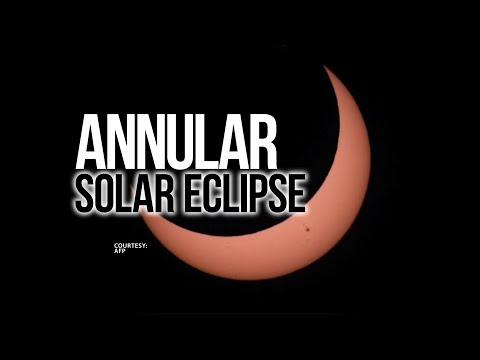 24 Oras: Anular solar eclipse, pinakamagandang masilayan sa Balut Island bukas