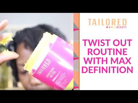 TWISTOUT ROUTINE   MAX DEFINITION & Tailored Beauty On 4c Hair   kandidkinks