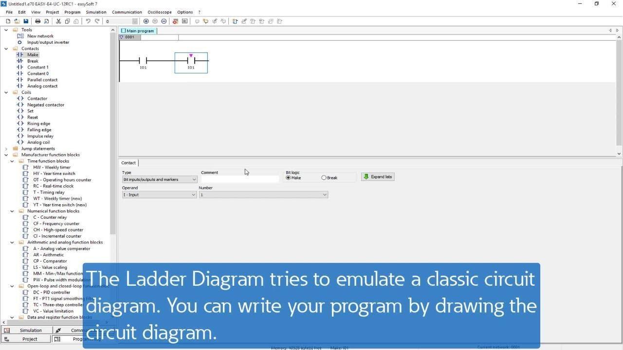 Easysoft Ladder Diagram Ld Youtube