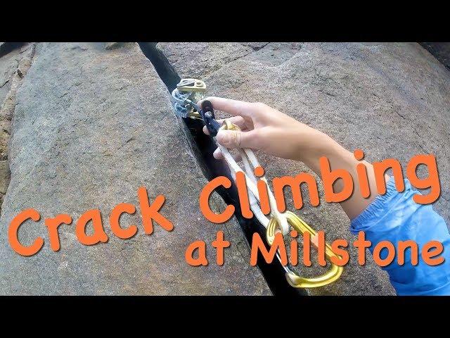 Crack Climbing at Millstone  - The Climbing Nomads - Vlog 21