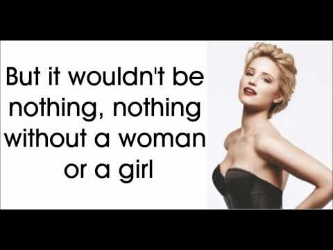 Glee - It's A Man's Man's Man's World (Lyrics) HD