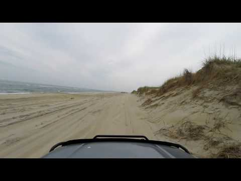 Driving out to the Point at Cape Hatteras #GoPro