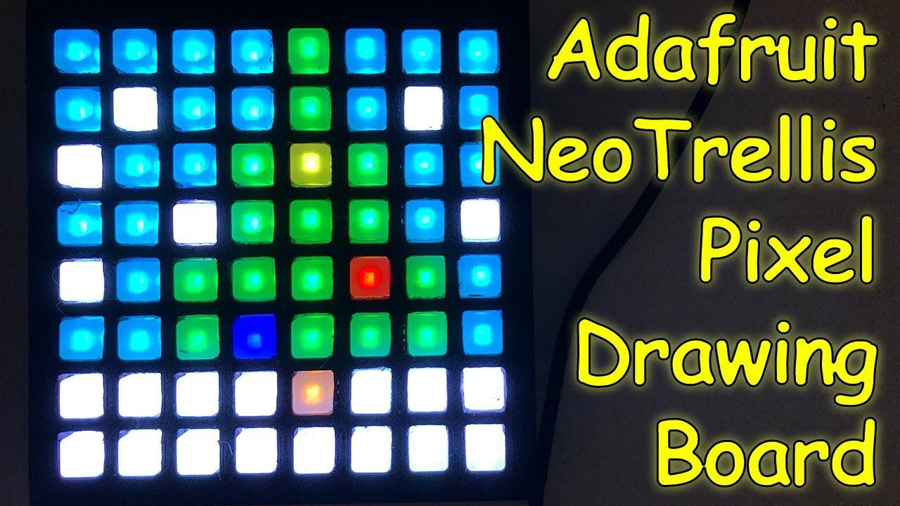 Adaruit NeoTrellis Pixel Image Drawing in Circuit Python