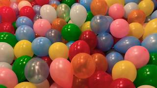 Balloons Invasion! Inspired by Blippi| We fill our BASEMENT with HUNDREDS BALLOONS
