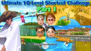 [MKWii] Ultimate 10 Level Shortcut Challenge - Part 1 - Troy vs Connor vs Justin vs Colton