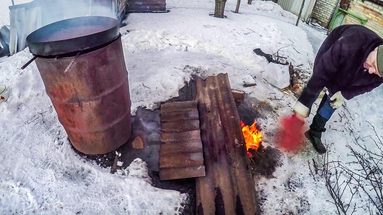 Как сделать коптилку горячего копчения видео фото 643