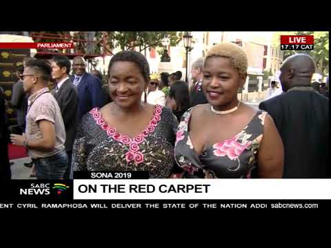 WATCH: MPs on the SONA 2019 red carpet