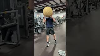 Taking Giant 150LB Rubber Band Ball To Gym #Shorts