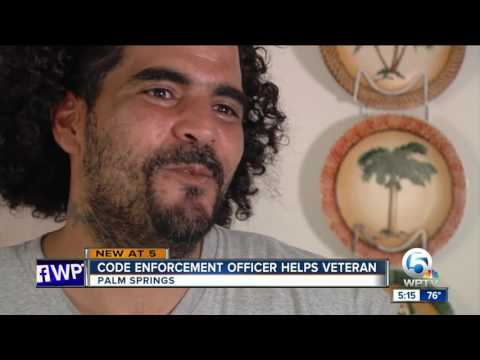 Code enforcement officer helps veteran