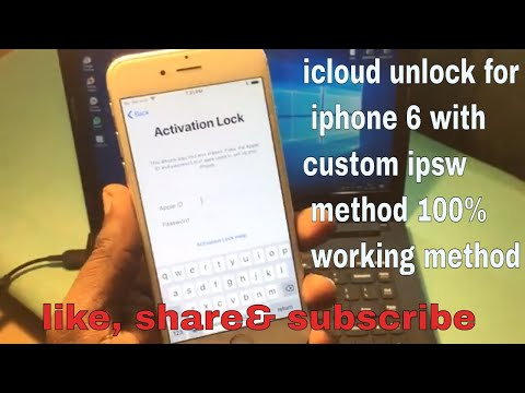 Icloud Unlock For Iphone 6 With Custom Firmware Method  || Permanently Unlock  Your Iphone ||
