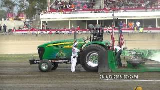 NTPA 9,300LB GRAND NATIONAL SUPER FARM TRACTORS  GREENVILLE, OHIO NIGHT 2 AUG 26, 2015