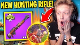 NEW HUNTING RIFLE FOOTAGE in Fortnite: Battle Royale! (NEW BEST SNIPER?)
