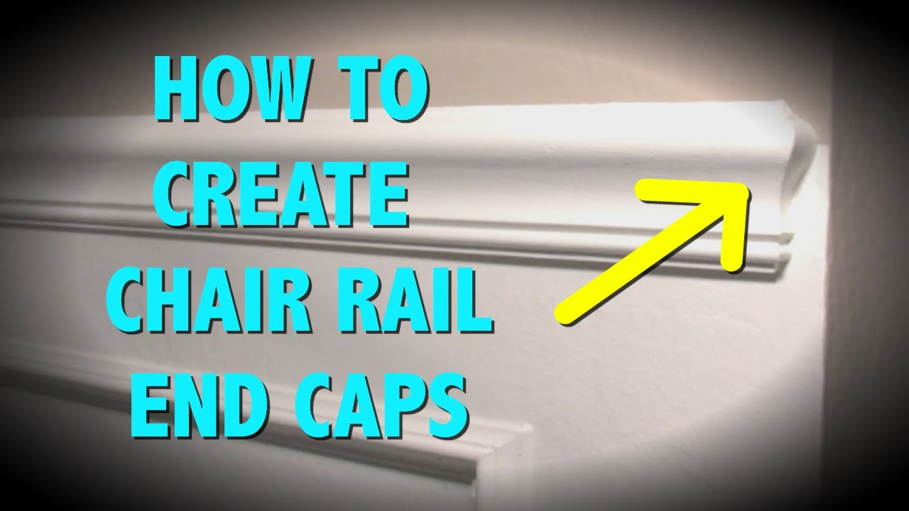 HOW TO MAKE END CAPS FOR A CHAIR RAIL - YouTube