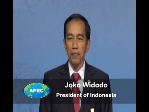 Joko Widodo, President of Indonesia, at the APEC CEO Summit