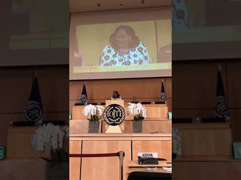Minister Baptiste Primus delivers her Address at the 107th Session - International Labour Conference