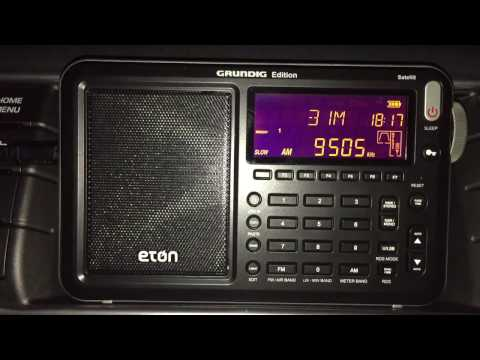 The Eton Satellit: Voice of Africa 9505 kHz, Sudan, best signal to-date