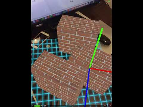 ARkit objects in plane physics body collision on plane.