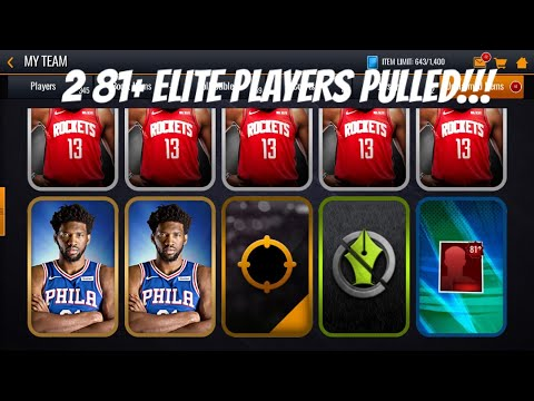 81+ OVR ELITE PLAYERS PULLED!!! NBA LIVE MOBILE 20