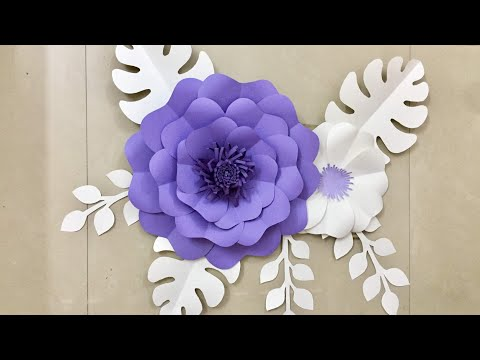 Wall Decoration Ideas | Paper Flower wall hanging | Home Decor Craft ideas
