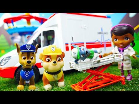 Щенячий патруль СКАЗКА онлайн - Мультики для детей из игрушек - Рокки упал с горки