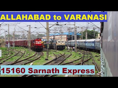 ALLAHABAD to VARANASI (Via JANGHAI) - Full Journey || Onboard 15160 SARNATH Express !!