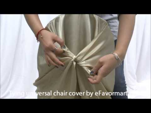 How To Tie A Universal Chair Cover By Efavormart Com Youtube