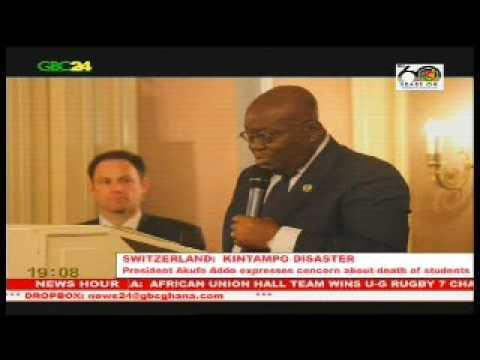 Switzerland: President Akufo-Addo dismayed by Kintampo tragedy