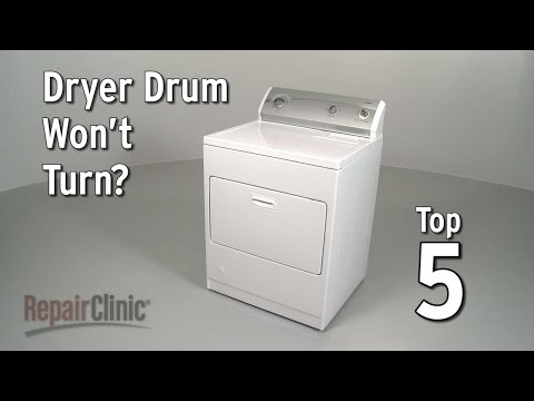 Dryer Drum Won't Turn? Gas Dryer Troubleshooting