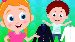 Steps to Dress | Schoolies Cartoons | Nursery Rhymes & Children Songs by Kids Channel