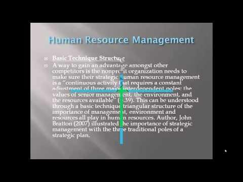 Human Resource Management In Nonprofit Organization