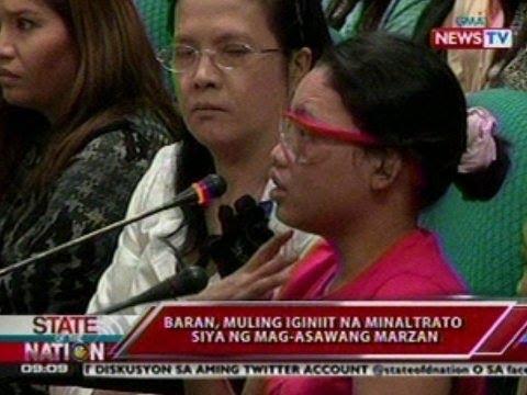 SONA: Bonita Baran at mag-asawang Marzan, nagkaharap sa pagdinig sa Senado