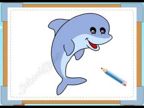 BÉ HỌA SĨ - Thực hành tập vẽ 155: Vẽ cá heo