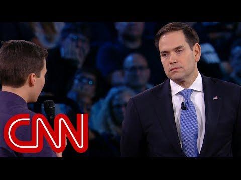 Survivor to Rubio: Will you reject NRA money? - Dauer: 4 Minuten, 50 Sekunden