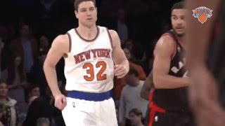 Jimmer Fredette's First Points with the New York Knicks