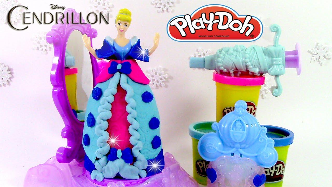 Pâte à modeler Princesse Cendrillon Robe de Bal ♥ Play Doh Cinderella Spin & Style - YouTube